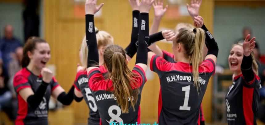 Young Volleys setzen sich an die Tabellenspitze